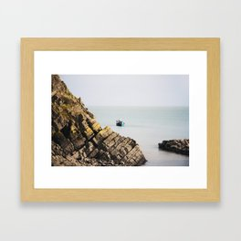 A fishing boat at Stackpole Quay in Pembrokeshire Framed Art Print
