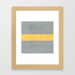 gray and yellow classic Framed Art Print