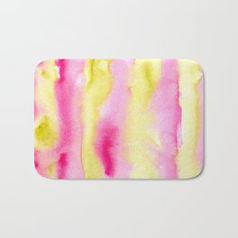 Watercolor vibrant vibes Bath Mat