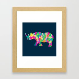 Abstract Rhino Framed Art Print