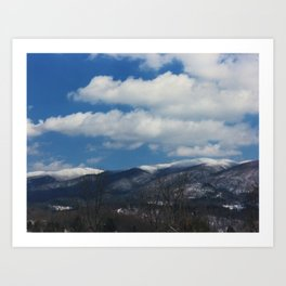 Holston Mountain Snowcaps Art Print