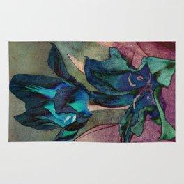 Vintage tulips(sapphire) Rug