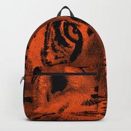 Tiger with Orange Background Backpack
