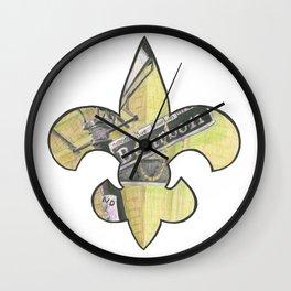 Fleur De Lis Bourbon Street Wall Clock