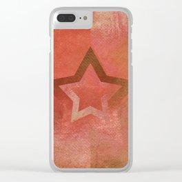 Suprematist Star VII Clear iPhone Case