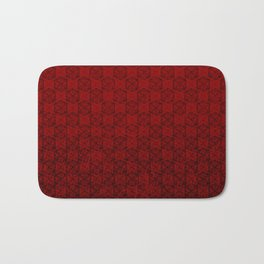 D20 Abyssal Crit Pattern Premium Bath Mat