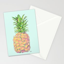 Mint Brite Pineapple Stationery Cards