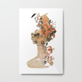 Freya's Hair (Gold) Metal Print