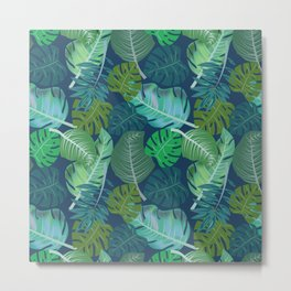 Tropical Leaves (Lets Go Tropical) Metal Print