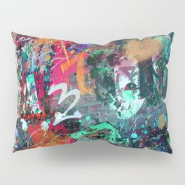 Graffiti and Paint Splatter Pillow Sham
