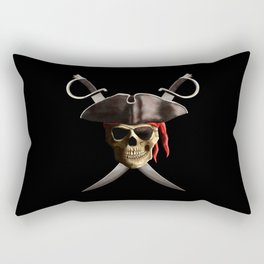 Pirate Skull And Swords Rectangular Pillow