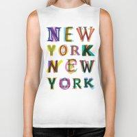 new york Biker Tanks featuring New York New York by Fimbis