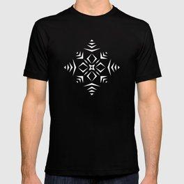 Paper Cut Snowflake Pattern T-shirt
