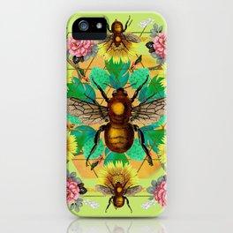 Bee Mandala iPhone Case