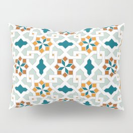 Geometric Pattern, oriental style (nature color set)  traditional morocco tile pattern Pillow Sham