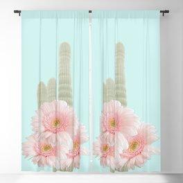 Cactus Flowers Bouquet Blackout Curtain