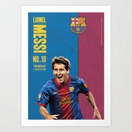 Lionel Messi Poster Art Print