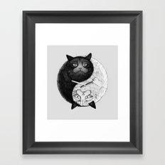 Grumpy Yin Yang Framed Art Print