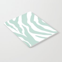 Aqua Zebra Notebook