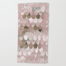 SUMMER MERMAID NUDE ROSEGOLD by Monika Strigel Beach Towel