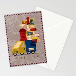 Postman's Post-er poster Stationery Cards