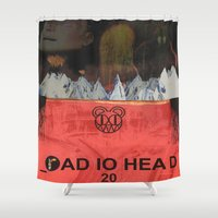 radiohead Shower Curtains featuring Radiohead 20 by W. Keith Patrick