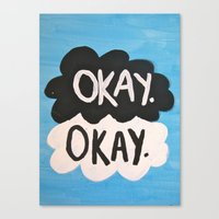 the fault in our stars Canvas Prints featuring The Fault in Our Stars. by Emma Morrison