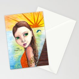 Sunset Gal by Kylie Fowler Stationery Cards
