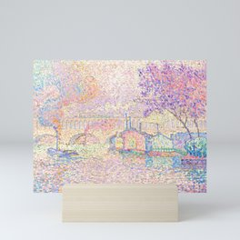 "Paul Signac ""Viaduc à Auteuil"" Mini Art Print"