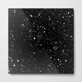 Little spots and speckles galaxy stars little ink dots universe minimal trend black blue Metal Print