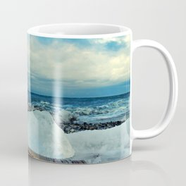 Spring Comes to the Beach in Ice that glows Blue Coffee Mug