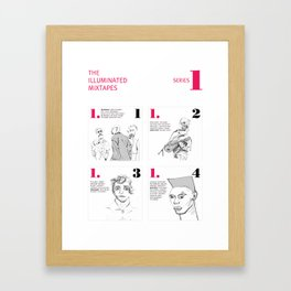 The Illuminated Mixtapes, Series 1 Framed Art Print