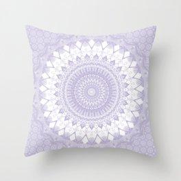 Boho Pastel Purple Mandala Throw Pillow