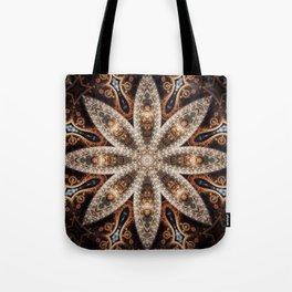 Pecan Mandala Tote Bag