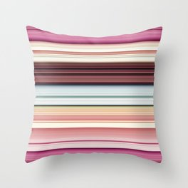 Sandwich cookie stripes Throw Pillow