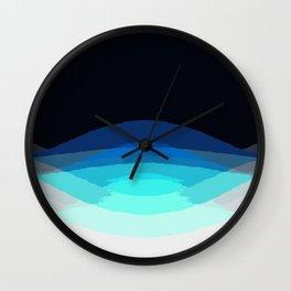 Aqua Black Ombre Wall Clock