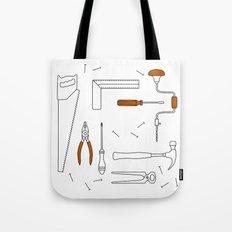 Carpenter Tools Tote Bag