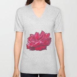 Red Rose 2 Unisex V-Neck