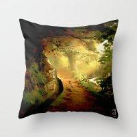 fairytale Throw Pillows featuring Fairytale by Nev3r