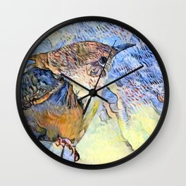 Sing Little Wren Wall Clock