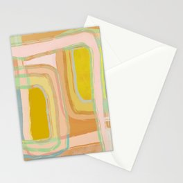 Shapes and Layers no.28 - Modern Squares and Stripes Stationery Cards