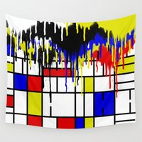 mondrian Wall Tapestries featuring MONDRIAN by DIVIDUS