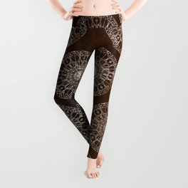 Rosette Window - Brown Leggings