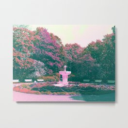 White fountain Metal Print