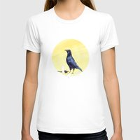 crow T-shirts featuring Crow by ankastan