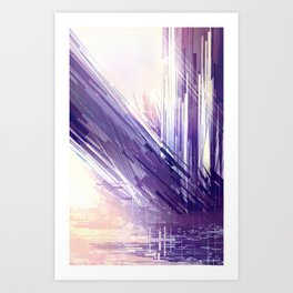 Collapsed Amethyst: The Formation Art Print