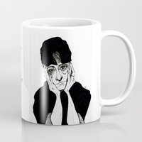 dorothy Mugs featuring Dorothy Parker by Simone Bellenoit : Art & Illustration
