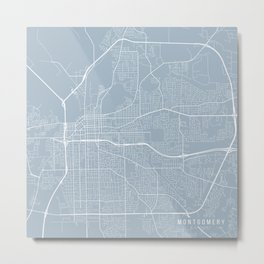 Montgomery Map, USA - Slate Metal Print
