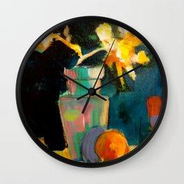 Summer Daisies Wall Clock