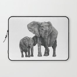 African Elephant and Calf Laptop Sleeve